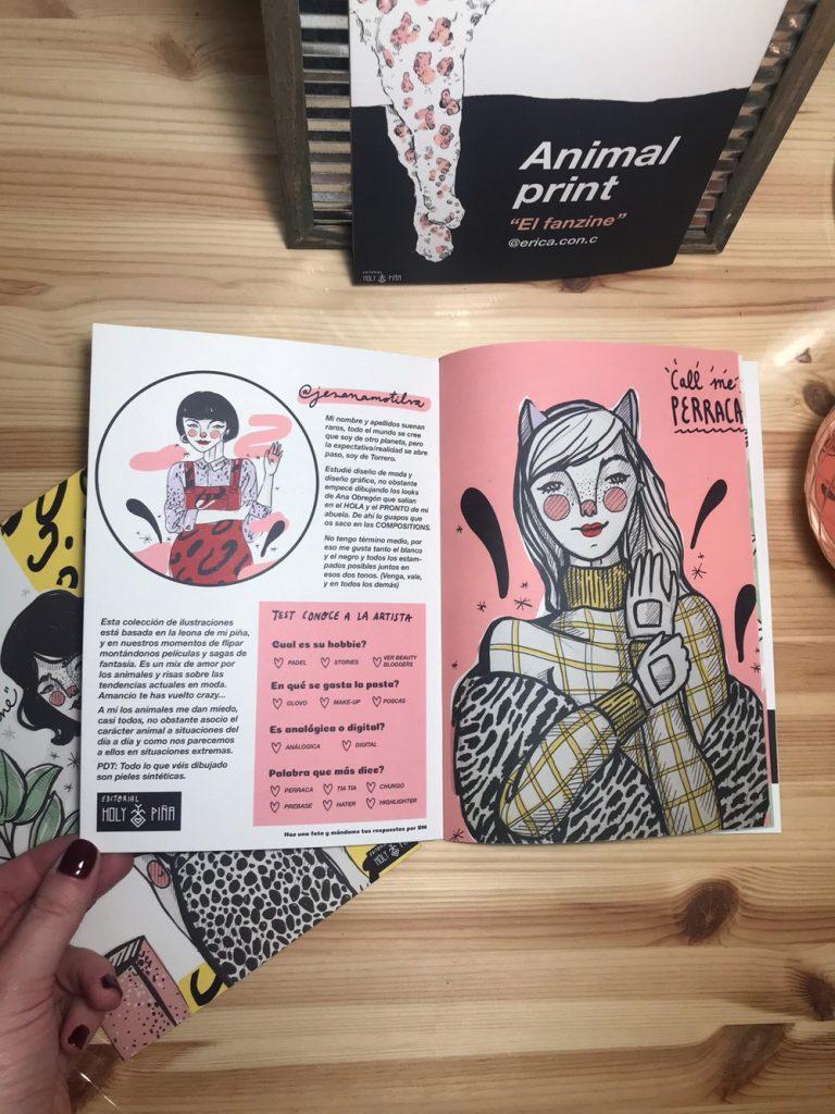 jesana motilva ilustradora española zaragoza animal print