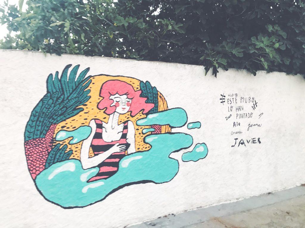 Mural ilustracion jesana motilva en Zamora