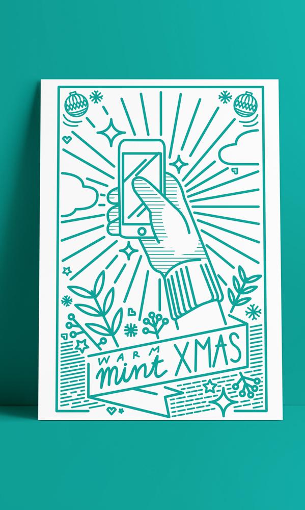 Lana Mint tarjeta ilustración navideña ilustradoras españolas Jesana Motilva